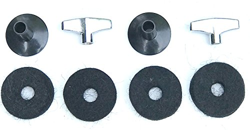 Accessory Cymbal Kit (Drum Starz Accessories Bundle: 2 Cymbal Sleeves, 2 Deluxe Wing Nuts, 4 Cymbal Felts)