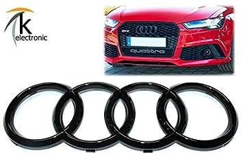 k-electronic Audi A6 S6 RS6 4 G Facelift Emblema Negro Brillante/Audi Anillos Enfriador Parrilla Frontal Delantera: Amazon.es: Coche y moto