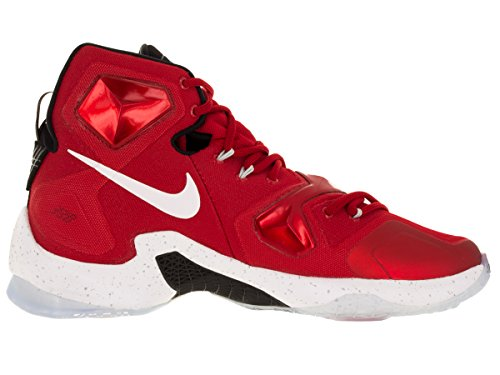 Nike Lebron Xiii, Zapatillas de Baloncesto para Hombre Rojo / Blanco / Negro / Naranja (Unvrsty Red / White-Blk-Lsr Orng)