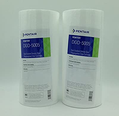 "Pentek DGD-5005 Spun Polypropylene Filter Cartridge, 10"" x 4-1/2"" 2- Pack"