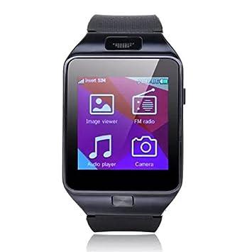 COOLER-Reloj Bluetooth SmartWatch táctil teléfono reloj de la pantalla con la tarjeta del TF para Android Sistema Smartphone(negro): Amazon.es: Electrónica