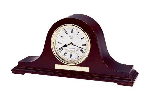 Bulova B1929 Annette II Clock, Mahogany Finish