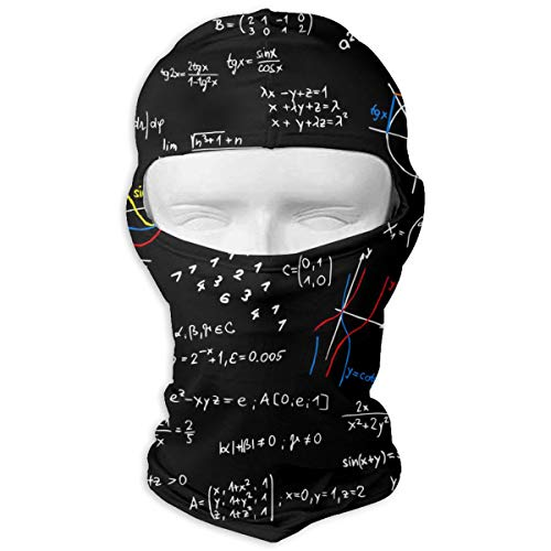 O-X_X-O Ideal Gift Math Mathematical Function Sin Cos Balaclava Full Face Mask Motorcycle Helmet Liner Breathable Multipurpose Outdoor Sports Wind Proof Dust Head -