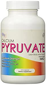 Calcium Pyruvate-Fat Burner and Calorie Burner Supplement, 120 Capsules, (1000mg Per Serving 2 Capsules),30 Day Supply, Helps Assist In Resizing Your Thighs, Burning More Fat Faster and Getting A Flat Belly, Flat Abs, Lean Legs and Tighter Tummy, Diet Hack of 2105 for New Year New Body