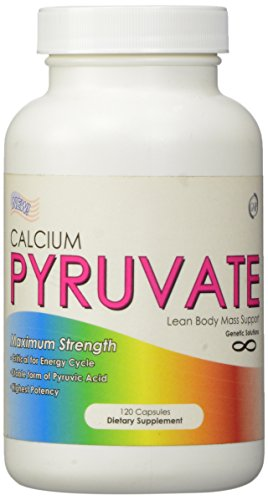 Calcium Pyruvate - Fat Burning Formula for Thighs, 1000mg Daily, 120 Capsules, 500mg per capsule, Calcium Pyruvate Helps Fight Skinny-Fat