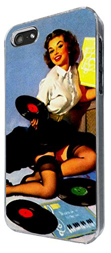 669 - Vintage Pin up Girl Sexy Design iphone 4 4S Coque Fashion Trend Case Coque Protection Cover plastique et métal
