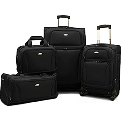 "Samsonite 4 Piece Lightweight Set (20"" & 28"" 4 wheel Spinners, Duffel & Boarding)"