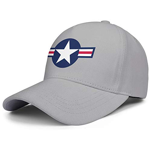 Fitted Mens Baseball Caps Roundel of The United States Air Force Flat Hat for Men Fit Dad Hat for Women ()