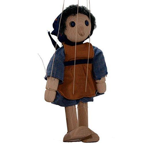 HCM Marionette aus Holz Kasperletheater BÄ UERIN - Hö he 18 cm HCM Kinzel