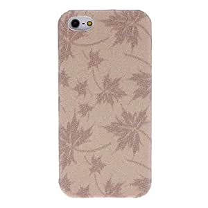 Shimmering Maple Leaves Pattern Protective Hard Case for iPhone 5/5S (Assorted Colors) --- COLOR:Black