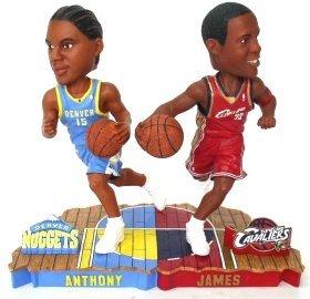 Forever Collectibles LeBron James & Carmello Anthony Bobble - Bobble Mates Forever Collectibles