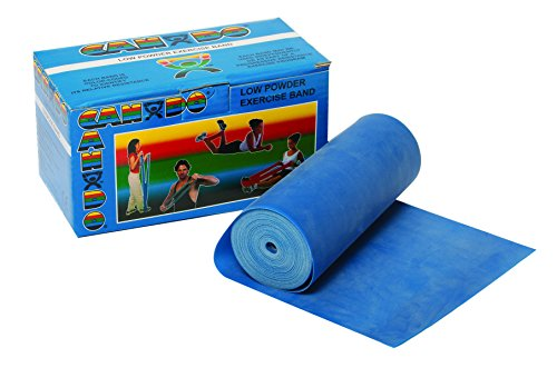 CanDo Low Powder Exercise Band, 6 yard Roll, Blue: Heavy