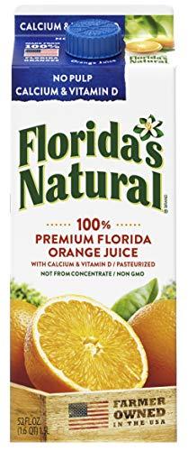 Florida's Natural 52oz NFC Orange Juice, No Pulp Plus Calcium