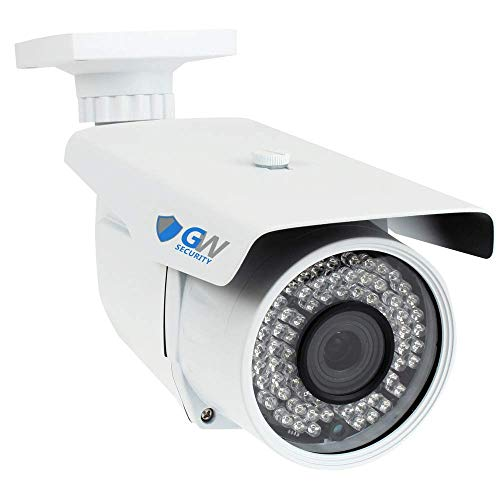 GW Security 5 Megapixel 2592 x 1920 Pixel Super HD 1920P Weatherproof H.265 Network PoE 1080P Security Bullet IP Camera with 6-22mm Varifocal Zoom Len and 72Pcs IR LED up to 196FT IR Distance