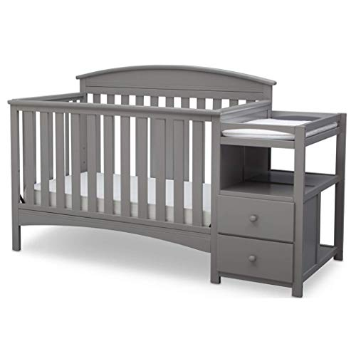 Delta Children Abby Convertible Crib And Changer Grey