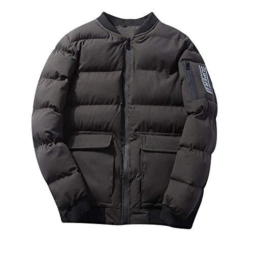 Matelassé Matelassée Veste Sport Vestes Courtes Épaisse Outwear Único Et Pour Armygreen Manches Hommes D'hiver Manteau Longues Léger À xYZxqB