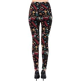 - 41XD 2BmZg7jL - VIV Collection Soft Brushed Printed Leggings Seasonal Designs for Fall/Winter Christmas REG/Plus