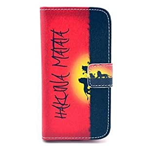 TY Hakuna Matata Pattern PU Leather Case with Card Slot and Stand for Samsung Galaxy S4 mini I9190