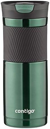 Caneca de viagem de aço inoxidável com isolamento a vácuo Contigo Snapseal Byron, 540 g, jade cinza