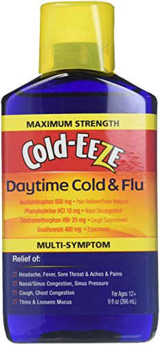 Cold-EEZE Maximum Strength Daytime Cold & Flu Relief Liquid, 9 -