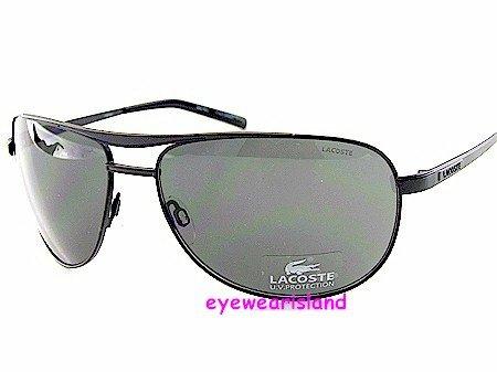 1422fb3b3f6 New Lacoste Sunglasses Alligator La12403 Bk Black Frame Soft Black ...