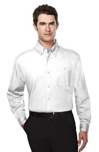 Tri-Mountain Big and Tall 6 oz. Cotton Long Sleeve Twill Shirt