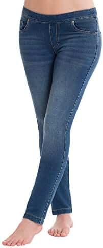 PajamaJeans - Petite Skinny Vintage Wash Stretch Knit Denim Jeans for Women G04760