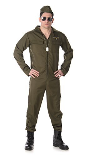 Naughty Halloween Costumes For Men (Karnival Costumes Men's Fighter Pilot - Halloween Costume (L))