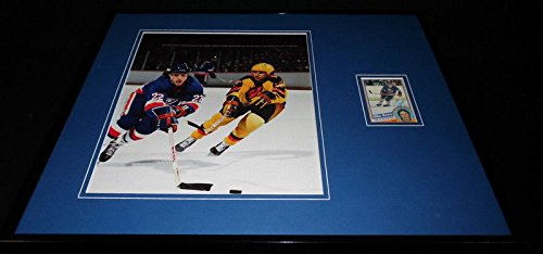 Mike Bossy Signed Framed 16x20 Photo Display New York Islanders