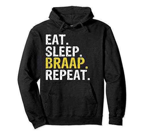 Funny Eat Sleep Braap Repeat Dirt Bike Hoodie