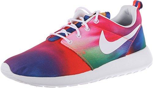 NIKE Rosherun Print Mens Running Shoes 655206-518 Court Purple White-Total Crimson 12 M US