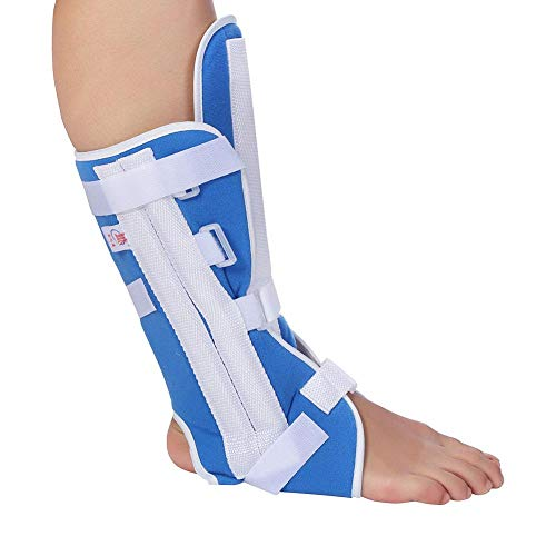 Foot Drop Brace Ankle Support Ankle Orthosis Brace Adjustable Knee Joint Support Elastic Ankle Wrap(M)