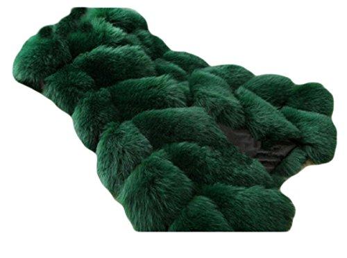 不当粘液マオリNicellyer レディース中旬長い縫い目のフェイクファーベスト着古簡易立体ジャケット