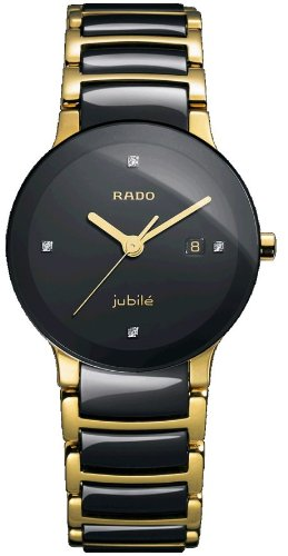 Rado R30930712 Centrix Jubile Ladies Watch - Black - Rado Ladies Gold Watch