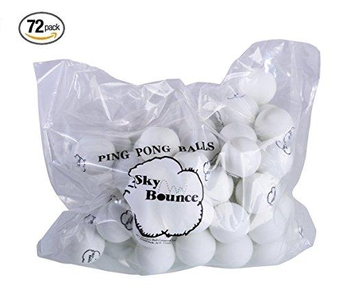 Sky Bounce 3-Star Table Tennis Ping Pong Balls, 72 Count - White - 72 Tennis Balls