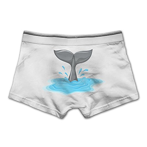 Whale Tail Spoiler - Ngyeyu Whale Tail Clipart Men's Underwear Cotton Vintage Boxer Briefs XL White
