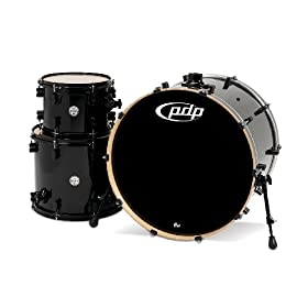 Pacific Drums PDCM2413PB Concept Series 3-Piece Drum Set - Pearlescent Black 19