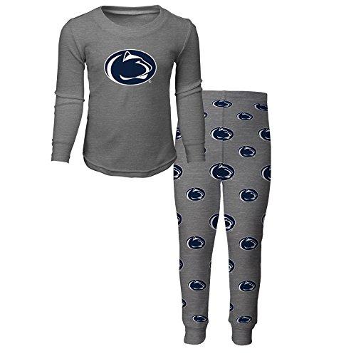 NCAA by Outerstuff NCAA Penn State Nittany Lions Kids Long Sleeve Tee & Pant Sleep Set, Heather Grey, Kids Medium(5-6)