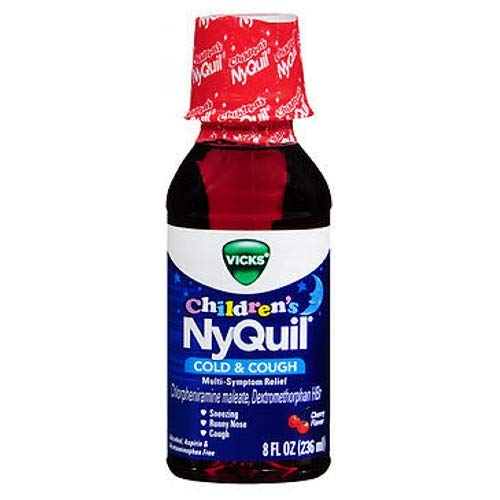 - Vicks Childrens Nyquil Cold Cough Multi-Symptom Relief Liquid, Cherry 8 Oz (Pack of 2)