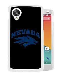 NCAA Nevada Wolf Pack AA 6 White Customize Google Nexus 5 Phone Cover Case