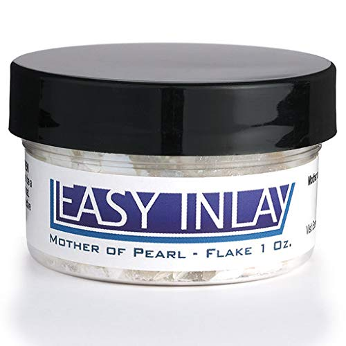 Crushed Mother-of-Pearl Inlay Supplies for Woodworkers, Turners, Casters, Luthiers, Professionals and Hobbyists - Flake, 1 oz. - Inlay Abalone Fingerboard