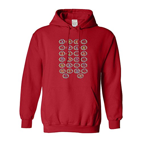 Alphabet Christmas Lights Christmas Gildan - Pullover Men's Hoodie(XXX-Large,Red)