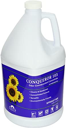 Fresh Products 1-WB-ST 1 Gallon Conqueror 103 Odor Counteractant with Springtime Fragrance (Case of 4)