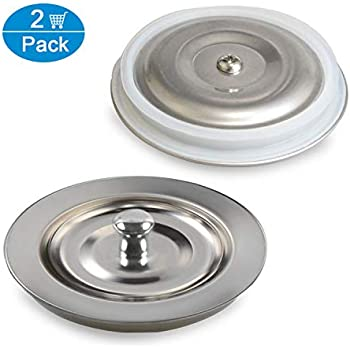 Fengbao 2pcs Kitchen Sink Stopper Stainless Steel Large