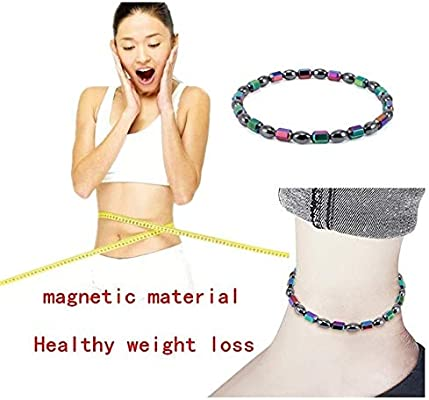 Weight Loss Black Stone Anklet Anklet Health Magnetic Ankle Bracelet Jewelry GX