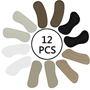 Heel Grips Liners from POVAD - 12 Pieces - Shoe Inserts for Women High Heel Protection from Blisters