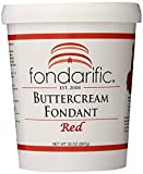 Fondarific Buttercream Red Fondant, 2-Pounds
