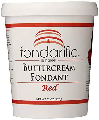 Fondarific Buttercream Red Fondant, - Red Frosting