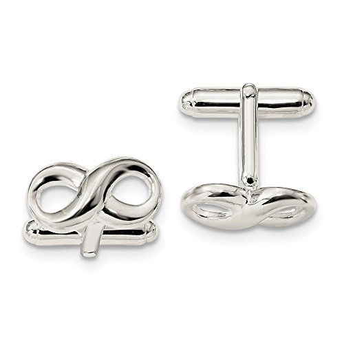 925 Sterling Silver Infinity Cuff Links Mens Cufflinks Link Man Fine Jewelry Gift For Dad Mens For Him