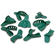 Starryshine 12 PC Dental Disposable Impression Trays, ALL SIZES to Fit Comfortably in Patient | Premium Quality - Autoclaveable (#8 - U-Left, L-Right)